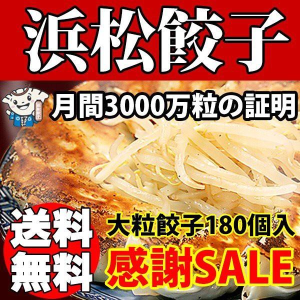 浜松餃子 味自慢 大盛り 180個 送料無料 薄皮 大粒餃子 国産素材の定番ぎょうざ お取り寄せ