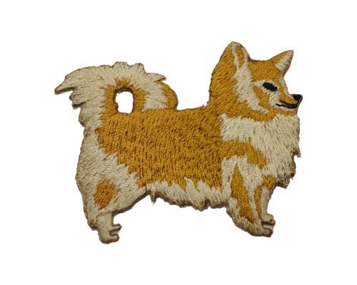 ブリード刺繍ワッペン/チワワロング
