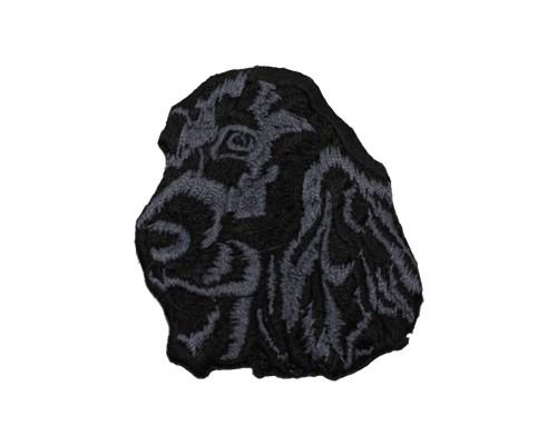 ブリード刺繍ワッペン/イングリッシュコッカー(ブラック)