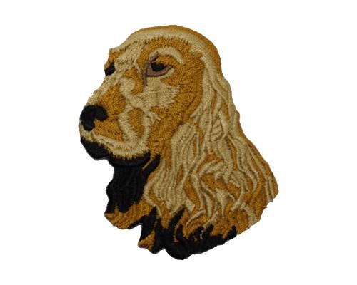 ブリード刺繍ワッペン/イングリッシュコッカー(ゴールド)