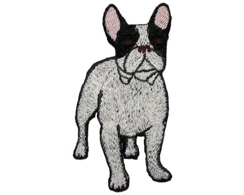 ブリード刺繍ワッペン/フレンチブル(パイド)