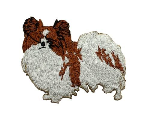 ブリード刺繍ワッペン/パピヨン