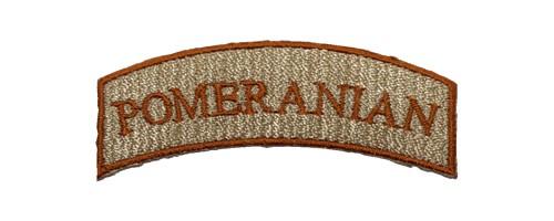 ロゴ刺繍ワッペン/ポメラニアン