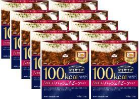 【大塚食品】マイサイズソイミートハッシュドビーフタイプ 140g×10個 フタをあけ、箱ごとレンジで調理