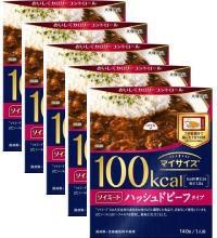 【大塚食品】マイサイズソイミートハッシュドビーフタイプ 140g×5個 フタをあけ、箱ごとレンジで調理