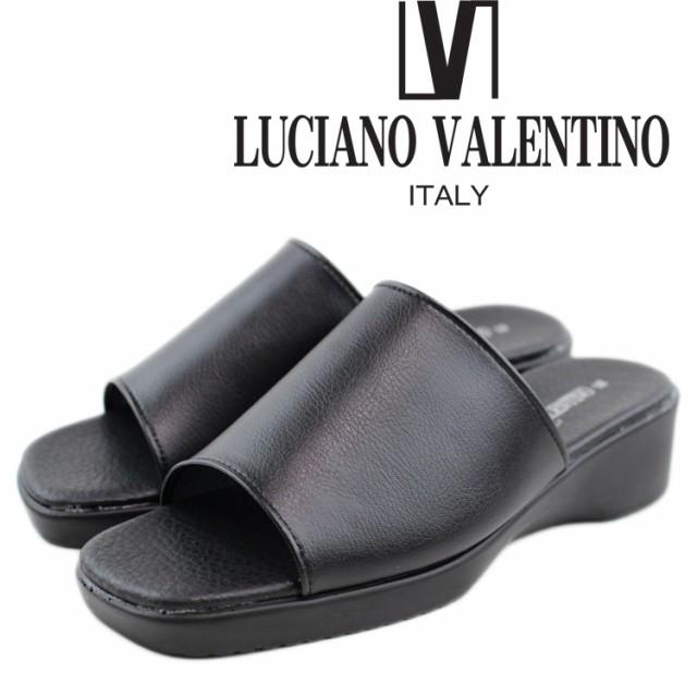 即納 送料無料 LUCIANO VALENTINO ルチアーノ バレンチノ サンダル レディース 6090 日本製 オフィスサンダル 黒 仕事 室内 会社 女性