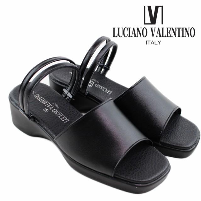 即納 送料無料 LUCIANO VALENTINO ルチアーノ バレンチノ サンダル レディース 6095 日本製 オフィスサンダル 黒 仕事 室内 会社 女性 婦