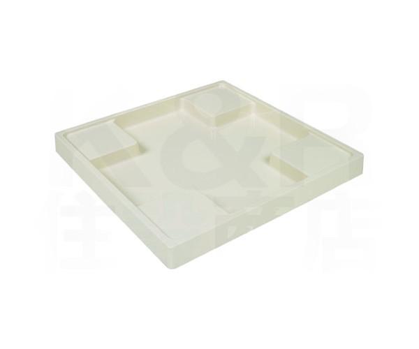 【TECHNOTECH】テクノテック 洗濯機用 スタンダード防水パン TS-640N アイボリーホワイト W640×D640×H60 排水口穴なし 耐荷重: