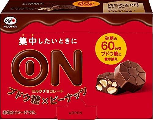 不二家 ONチョコレート(ブドウ糖×ピーナッツ) 7粒 ×5個