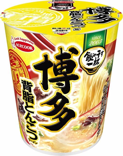 エースコック タテ型 飲み干す一杯 博多 背脂とんこつラーメン 66g ×12個