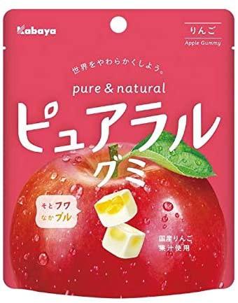 カバヤ ピュアラルグミ りんご 58g ×8袋