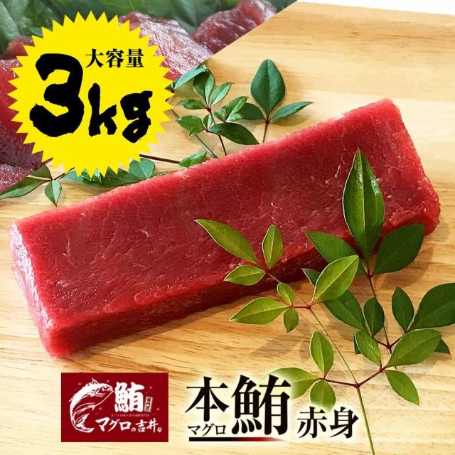 ギフト 本マグロ 赤身 ブロック 業務用 大容量 3kg 極上の旨味が味わえます! 解凍レシピ付 プレゼント 海鮮 ギフト まぐろ マグロ 鮪 刺