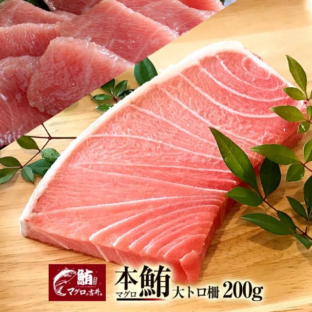 ギフト まぐろ マグロ 鮪 大トロ ブロック 200g 刺身 極上 の旨味が味わえます! 解凍レシピ付 プレゼント 鮪 美味しい 食べ物 海鮮丼 手