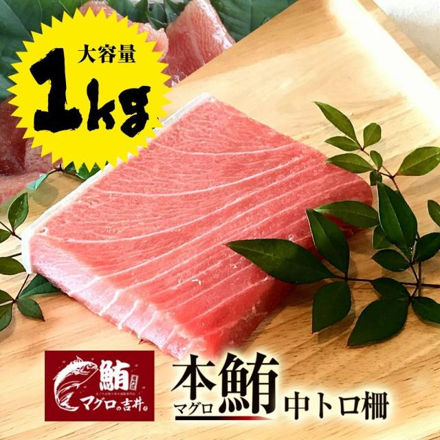 ギフト 本マグロ 中トロ ブロック 業務用 大容量 1kg 極上の旨味が味わえます! 解凍レシピ付 プレゼント 海鮮 ギフト まぐろ マグロ 鮪