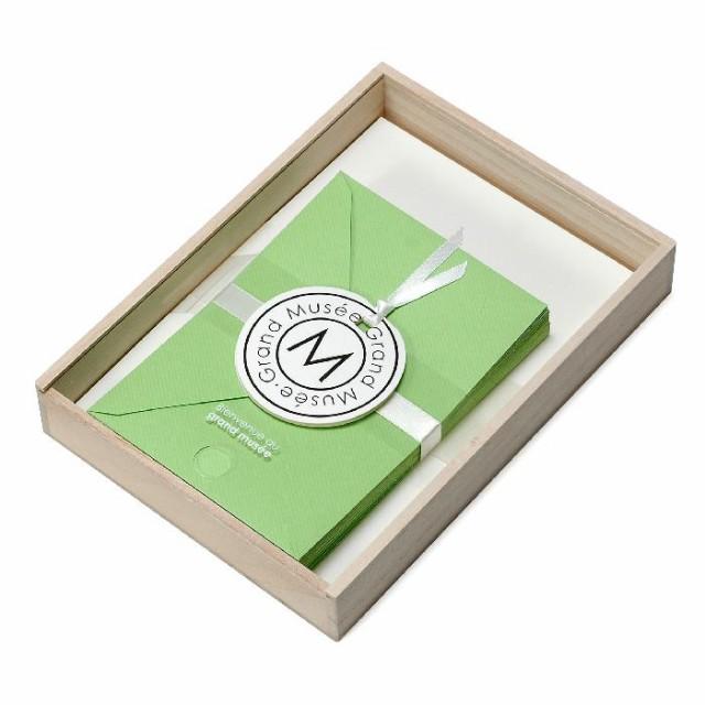レターセット A5 木箱入り グリーン PAPIER グランミュゼ プレゼント 記念品 公式通販サイト