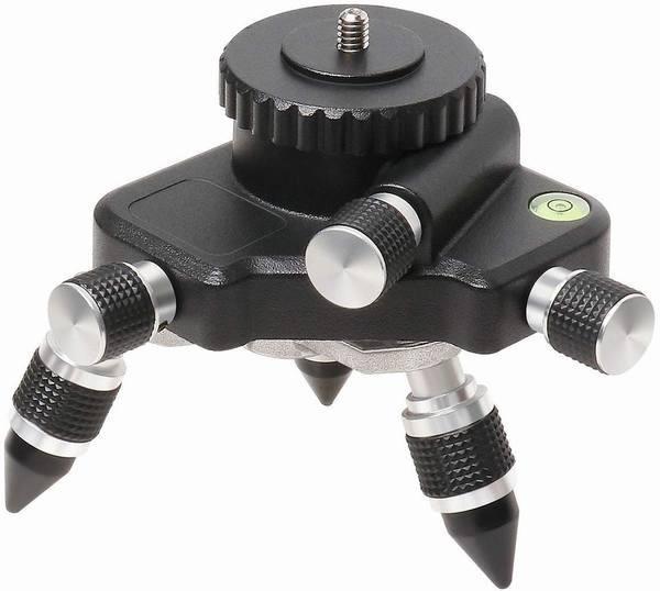 下げ振りアダプター 三脚接続アダプター マウント ベース 回転台 微調整 オスネジ1/4ネジ 墨出し器用 AT2