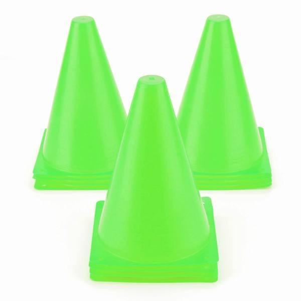 7.5インチプラスチック製のトレーニングトラフィックコーン 子供用ミニアジリティマーカーコーン