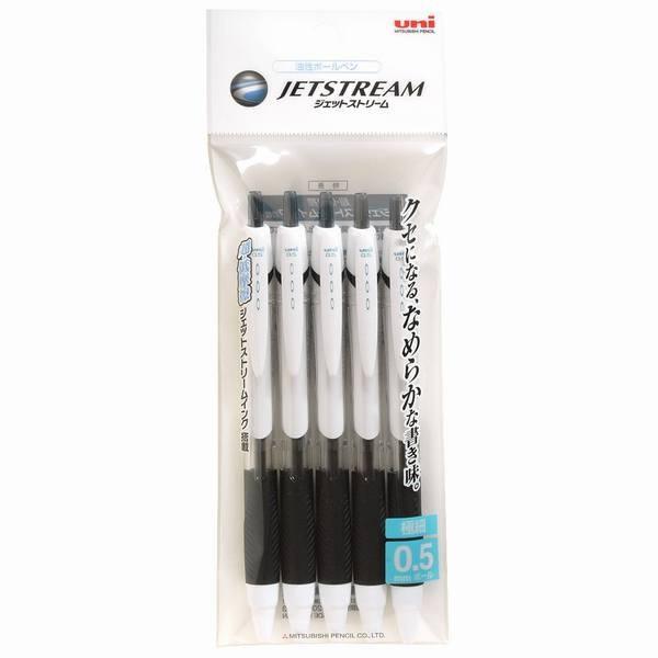 三菱鉛筆 油性ボールペン ジェットストリーム 0.5 黒 5本 SXN150055P.24