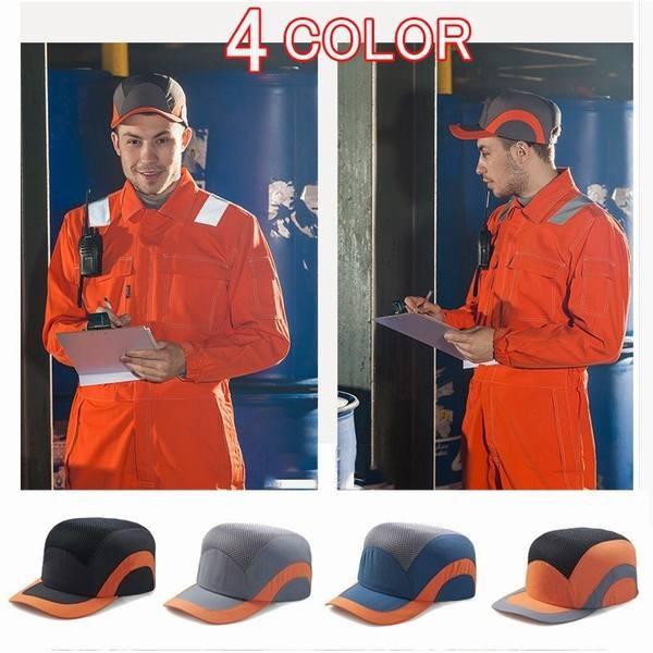 防災ヘルメット 帽子型ヘルメット プロテクターキャップ PE 保護帽 作業用 メッシュ キャップ 防災 安全 軽量 自転車