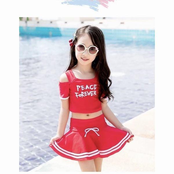 YA-0000245 子供 水着 ワンピース キッズ夏 セパレート 可愛 スカート 上下別柄 フリル 水着 女の子 3点セット フリル プリント オールイ