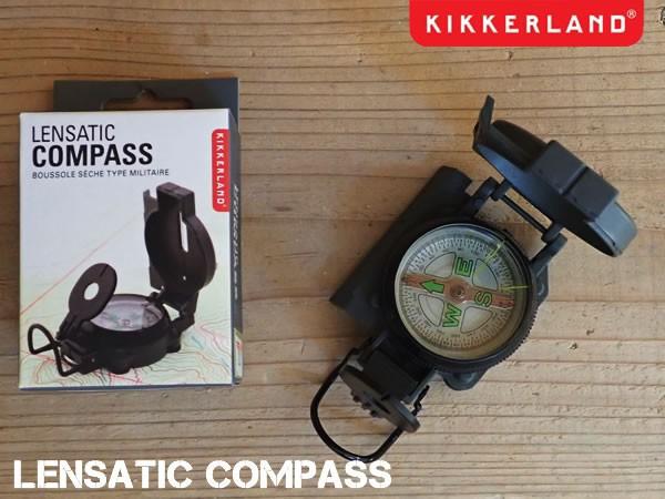 LENSATIC COMPASS レンザティックコンパス 方位磁針 キャンプ アウトドア アーミー KIKKERLAND キッカーランド DETAIL