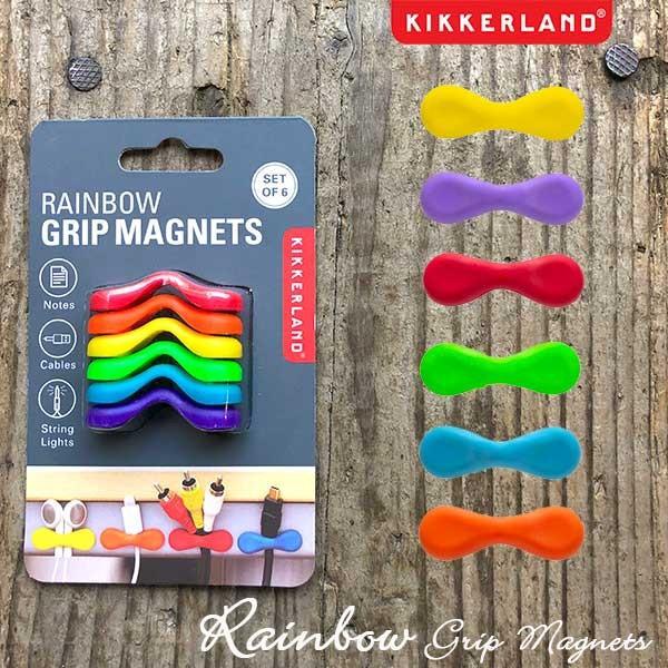 Rainbow Grip Magnets set of 6 レインボーグリップマグネット 6個入 磁石 キッカーランド KIKKERLAND