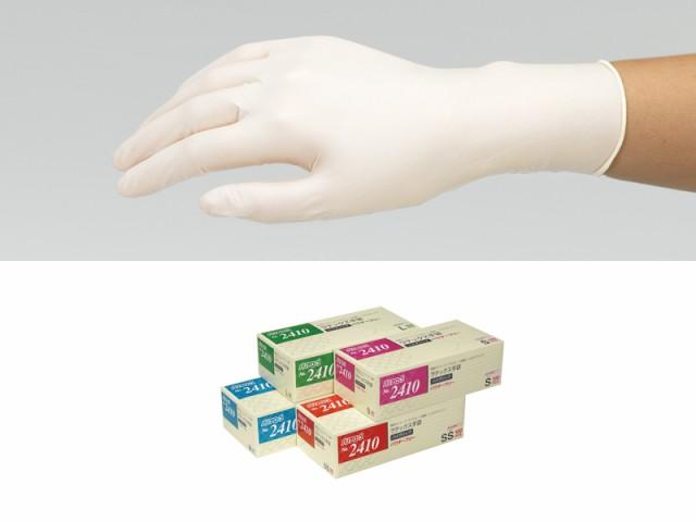 ★送料無料★【在庫あり】【使い捨て手袋】ゴム手袋 ラテックス ハイグリップ手袋 No.2410 S M L 100枚入 粉なし 使い捨て手袋 パウダー