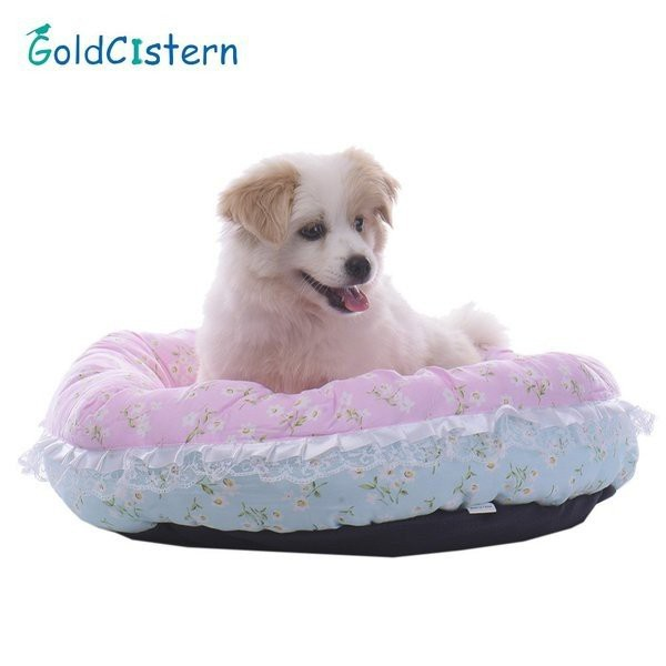 花ペット犬猫ハウスベッドソフトコージーレースソフト暖かい子犬子猫巣ソファマットペット用品