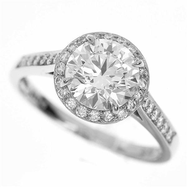 TIFFANY Co. ティファニー ダイヤモンド(1.74ct G-VVS1) ソレスト リング Pt950 プラチナ 約15号 #55 32991009