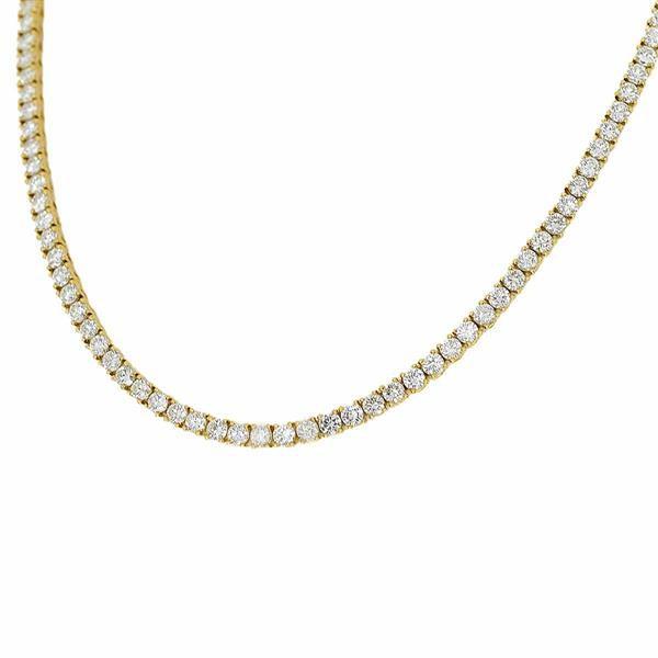 Cartier カルティエ ダイヤ(約9ct) テニス ネックレス 750 K18 YG イエローゴールド レディース 30891201