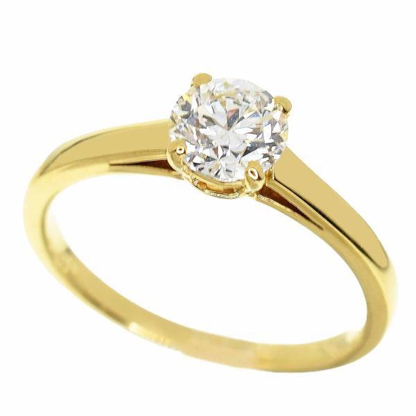 BVLGARI ブルガリ グリフ ダイヤモンド(0.65ct D-VVS1-3VG) リング サイズ約10号 #50 750 K18 YG イエローゴールド 32120206