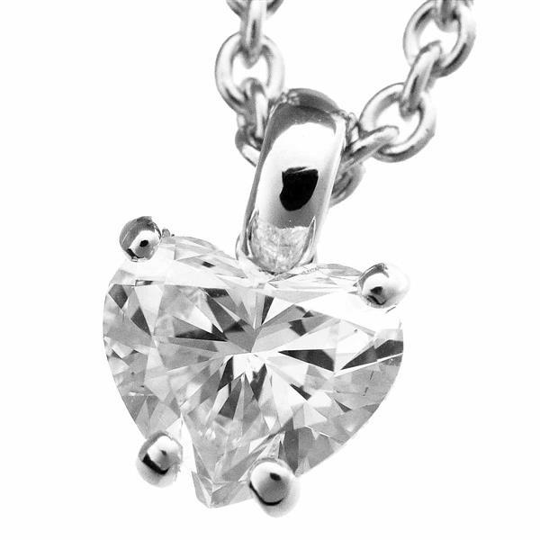 BVLGARI ブルガリ ハートシェイプ ダイヤモンド(1.09ct G-SI1)グリフペンダントネックレス 338204 K18WG GIA鑑定書MadeInItaly 21010201