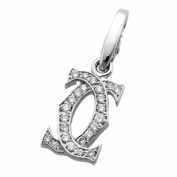 Cartier カルティエ ダイヤモンド 2C チャーム 証明書 750 K18 WG ホワイトゴールド 21120302