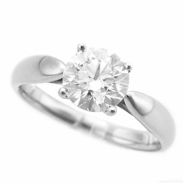 TIFFANY Co. ティファニー ハーモニー ダイヤモンド(1.09ct E-VS2-3Ex) リング Pt950 プラチナ 約8号 #48 鑑定書 21120305