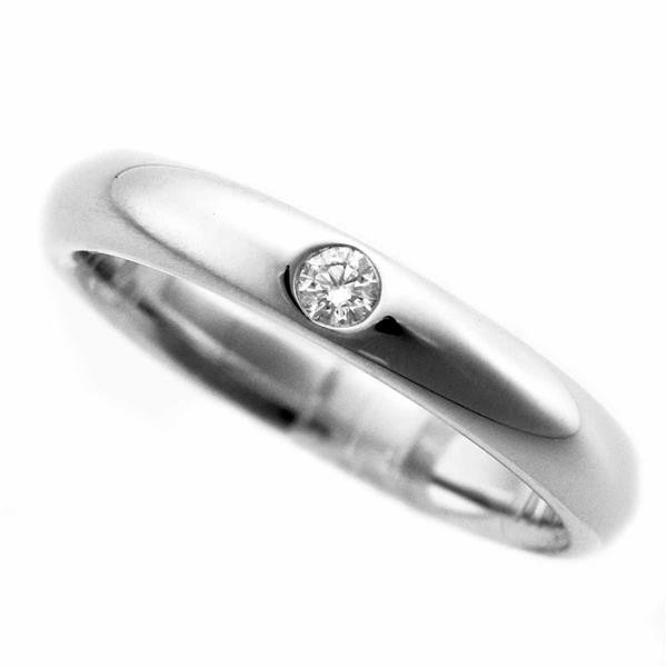 HARRY WINSTON ハリーウィンストン ダイヤモンド(0.04ct) ラウンドカット・マリッジリング Pt950 プラチナ 日本サイズ約8号 #48 21250403