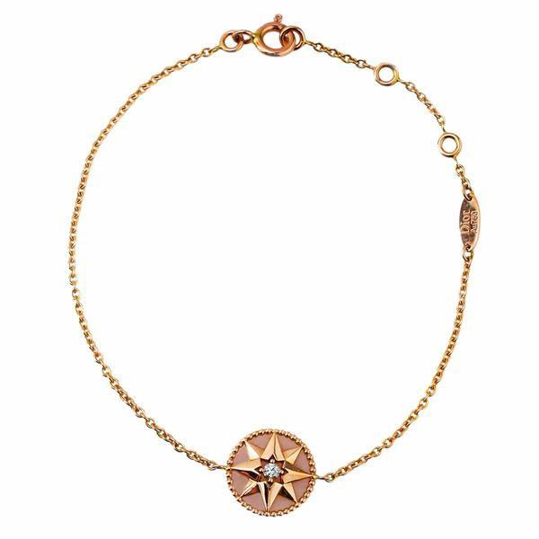 Christian Dior クリスチャン・ディオール ダイヤモンド (0.045ct) ローズデヴァン ブレスレット ピンクオパール K18PG 321151203