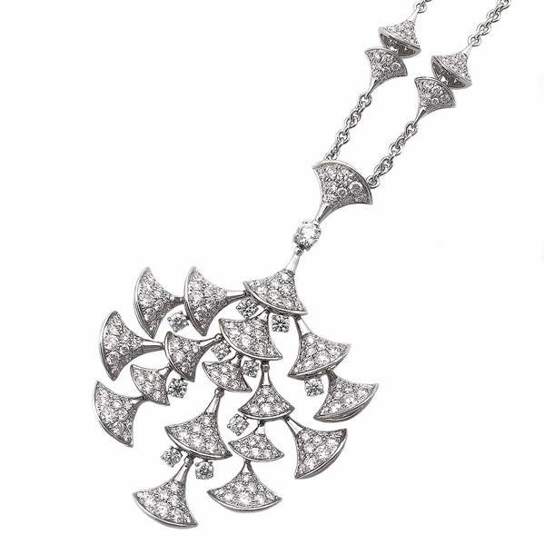 BVLGARI ブルガリ ディーヴァ ドリームコレクション ダイヤモンド ペンダント ネックレス CL856465/348362 K18WG Italy 21550703