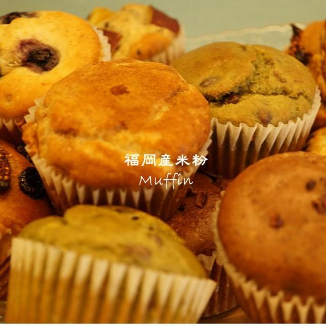 【送料込み】グルテンフリー ビーガン 米粉マフィンお得6種類12個セット 福岡産米粉100% 小麦粉 卵 乳製品 動物性油 不使用 白砂糖不使用