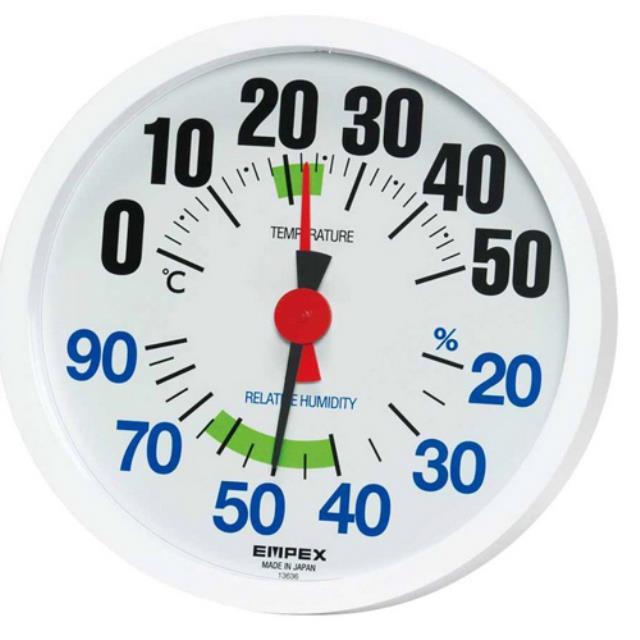 エンペックス(EMPEX) 温度湿度計 ルシード 壁掛け用 日本製 ホワイト TM-2671(603264)