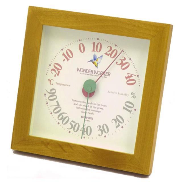 エンペックス (EMPEX) ワンダーワーカー温湿度計 温度計・湿度計 ブラウン TM-4689(603305)