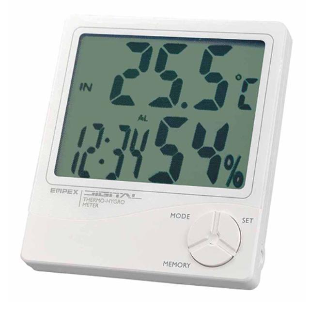 エンペックス (EMPEX) デジタル温湿度計(時計/カレンダー付) TD-8240(603310)