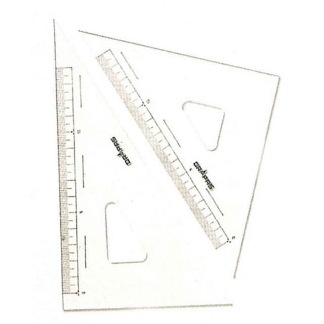 ドラパス(DRAPAS) 三角定規 目盛付 18cm No13-122(952755)