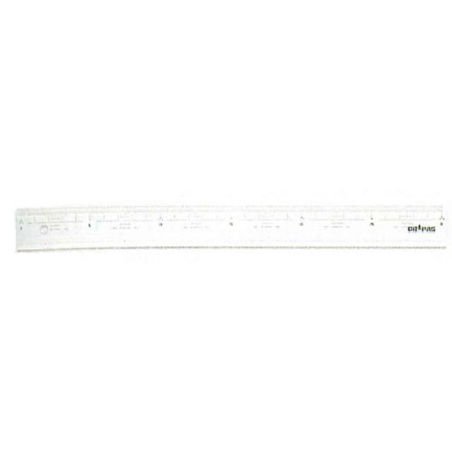 ドラパス(DRAPAS) 直定規 目盛付・溝付 30cm No15-330(952766)