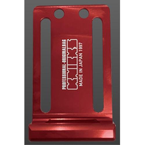 KNICKS(ニックス) 削り出しアルミ 電動工具用フッカー ALU-I-R 赤 フック金具付電動工具用プレート[作業工具 腰袋](916262)