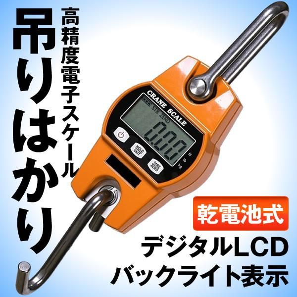 高精度電子スケール 300kg 600lb コンパクト デジタル クレーンスケール 吊りはかり 乾電池式 DEJIHHKA