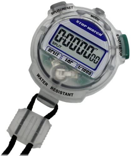 [クレファー]CREPHA デジタルストップウォッチ 3気圧防水 カウントダウン計測 クリア TEV-4013-CL