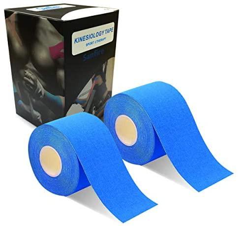 2巻入 テーピングテープ キネシオ テープ 筋肉・関節をサポート 伸縮性強い 汗に強い パフォーマンスを高める 5cm x 5m (??い)