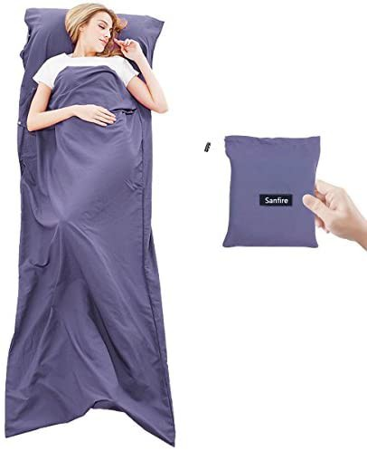 インナーシーツ シュラフ 寝袋 インナーシュラフ トラベルシーツ 封筒型 軽量 肌触り良い 旅行・列車・ホテル用 車中泊 防災用品 地震対