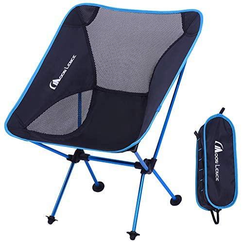 Moon Lence アウトドア チェア キャンプ 椅子 折りたたみ アルミ合金&オックスフォード コンパクト 超軽量 収納バッグ ハイキング 耐荷