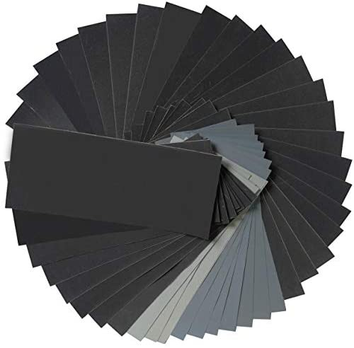 Aewio サンドペーパー 紙やすり 耐水ペーパー 研磨紙 木工 ペーパー 研磨用(320 400 600 800 1000 1200 1500 2000 2500 3000 5000 7000